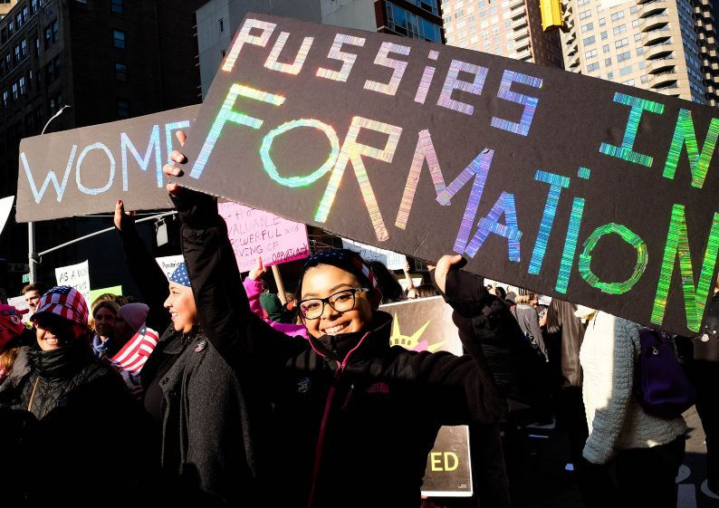 women march