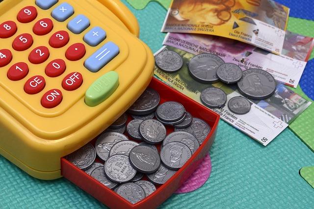 Money Plastic Keys Play Pay Toy Cash Register