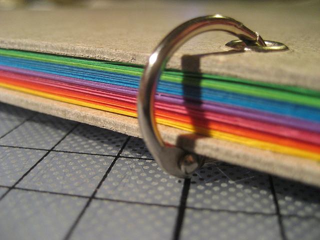 Rainbow ring book closeup