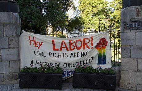 אוסטרליה לוקחת צעד אחורה בנושא שוויון בנישואים, בתמיכת הארגונים הגאים