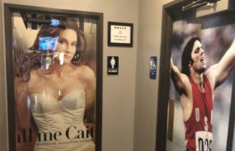 """מסעדה בארה""""ב השתמשה בתמונות של קייטלין ג'אנר לפני ואחרי השינוי לסימון שירותי הגברים והנשים"""